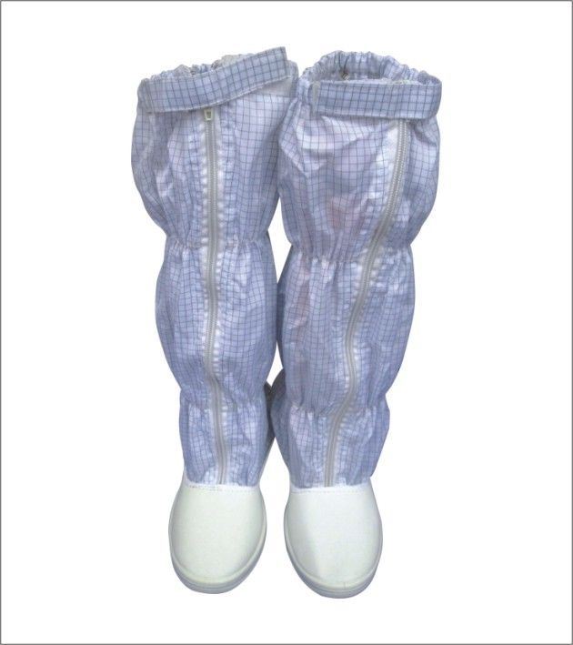 Light ESD Safety Shoes Anti Static Grid Fabric Booties For Electronic  Industry